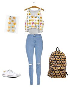 """Bez naslova #15"" by ermina-camdzic ❤ liked on Polyvore featuring Glamorous, Ankit and Converse"