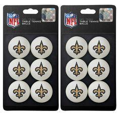 New Orleans Saints NFL Table Tennis Balls Set 1