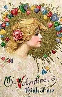 Vintage Valentine postcard by Samuel Schmucker, ca. 1910s