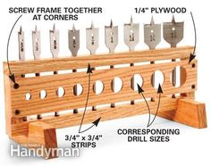 Great idea for cross-checking dowel sizes.