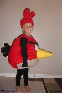 homemade angry bird costume -