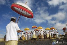 Melasti ritual is a part of Nyepi ceremony (day of silence) in Bali.