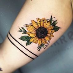 A sunflower tattoo is a symbol of happiness, luck, hope, and loyalty. We have found 61 of the prettiest sunflower tattoo designs. Check them out! Hand Tattoos, Body Art Tattoos, Sleeve Tattoos, Tatoos, Key Tattoos, Arrow Tattoos, Piercing Tattoo, I Tattoo, Piercings
