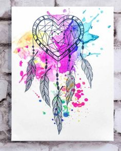 Heart Dream Catcher Canvas | dormify.com