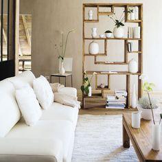 Open Wooden Bookshelf / Bookcase Decor.
