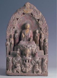 """Unearthed: Recent Archaeological Discoveries from Northern China"" @ The Sterling and Francine Clark Art Institute - Alain. Buddha Art, Buddha Statues, Tantra Art, Buddhist Shrine, Pablo Picasso, Tibetan Art, Archaeological Discoveries, Hindu Art, Lion Sculpture"