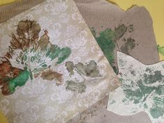 Leaf printing and Autumn Collages, Giltbrook Care Home