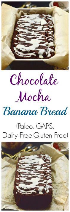 Pure and Simple Nourishment : Chocolate Mocha Banana Bread (Paleo, GAPS, Gluten free, dairy free