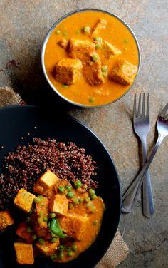 Tofu Tikka Masala (Vegan & Gluten-Free)- not bad but not outstanding. Needs a little acid, I noticed some bitter notes(Vegan Curry Chickpeas) Veggie Recipes, Indian Food Recipes, Whole Food Recipes, Vegetarian Recipes, Cooking Recipes, Healthy Recipes, Bulk Cooking, Dinner Recipes, Curry Recipes