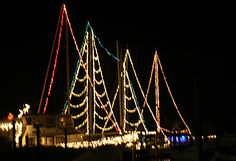 Would love fall asleep on Christmas Eve somewhere tropical, gazing up into the lights in the mast.