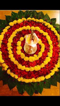 Rangoli Designs Flower, Colorful Rangoli Designs, Rangoli Designs Diwali, Flower Rangoli, Beautiful Rangoli Designs, Diwali Decorations At Home, Home Wedding Decorations, Festival Decorations, Flower Decorations