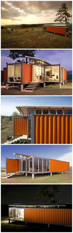 Containers of Hope is a family home situated in a quiet, rural spot outside San Jose, Costa Rica. Architect Benjamin Garcia Saxe repurposed shipping containers to maintain a low budget. https://www.jovoto.com/blog/creatives/interior-design-and-architecture-around-the-world/?utm_source=pinterest.com&utm_campaign=cm16pincontent&utm_medium=social&utm_content=80days