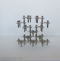 12 BMF orion candle holders, design vintage stackable candle sticks by decirculo on Etsy https://www.etsy.com/listing/202665854/12-bmf-orion-candle-holders-design