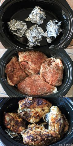 Slow Cooker Chicken Breasts - moist and flavorful chicken in the slow cooker!.