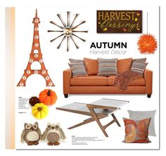 """""""Fall decor"""" by lilieshomeandgarden ❤ liked on Polyvore featuring interior, interiors, interior design, home, home decor, interior decorating, Dot & Bo, Vitra, Universal Lighting and Decor and Bliss Studio"""