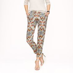 Collection pant in misty fog floral : cropped trousers | J.Crew