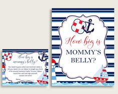 Sailor Baby Showers, Baby Boy Shower, Nautical Baby, Nautical Theme, All You Need Is, Online Print Shop, Baby Shower Printables, Print Store, Printing Services