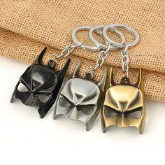 Euramerican Style The Avengers Series Moives Theme Batman Mask Keychain For Keys Trinket Key Holder Present Free Shipping