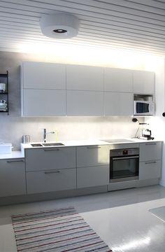 Led-valonauhat keittiössä. Kitchen led lights.