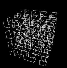 Hilbert space-filling curve