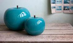 <3 <3 <3 Ceramic Apple Sculptures by Bull & Stein!