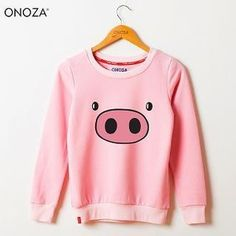 Pig Print Pullover