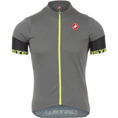 Castelli Entrata 2 Full-Zip Jersey - Short Sleeve - Men'sAnthracite