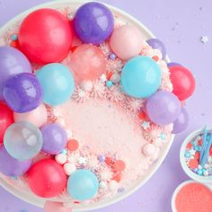 Gelatin Bubble Garland – On a Cake!