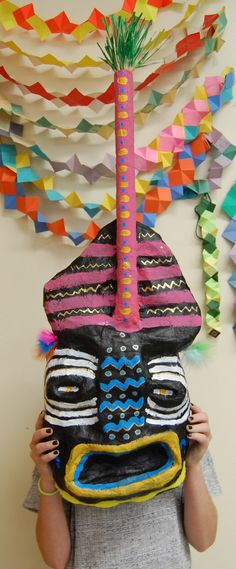 7th Grade Art, African Mask, Rye Middle School, 2011-2012