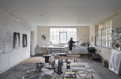 SOLITUDE AND STUDIO SPACE: ANNE JUDELL'S RURAL HOME - I feel relaxed just looking at this :)