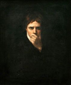 Sir David Wilkie, John Opie, 1805. Strange ,,, is he trying to look thoughtful or is there something wrong with his mouth?