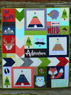 Adventure With My Tribe Quilt Blanket - Humpine Paper Piecing Patterns, Quilt Patterns, Quilted Throw Blanket, Animal Quilts, Panel Quilts, Quilt Blocks, Foundation Paper Piecing, Bead Kits, Woodland Animals