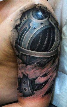 biomechanical tattoo - MyBodiArt.com
