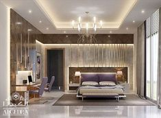 If done right, your master bedroom design can be a wonderful place. We at ALGEDRA offer master bedroom interior design services. Modern Master Bedroom Design, Master Bedroom Layout, Interior Design Masters, Ceiling Design Bedroom, Luxurious Bedrooms, Interior Design Dubai, Residential Interior Design, Modern Luxury Bedroom, Luxury Bedroom Master