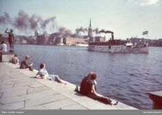 Category:Photographs by Gunnar Lundh Stockholm Sweden, Old City, Old Pictures, New York Skyline, Nostalgia, Black And White, Travel, 1930s, Ships