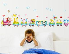 Animals On The Train Wall Stickers Children/Kids Room or Bathroom-Home Decor-Tac City Goods Co. https://www.taccitygoods.com/products/animals-on-the-train-wall-stickers-children-kids-room-or-bathroom