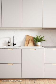 This Plykea kitchen features Fox Formica fronts with our semi-recessed handles a quartz worktop and Kitchen Room Design, Modern Kitchen Design, Interior Design Kitchen, Kitchen Decor, Interior Ideas, Ikea Kitchen Cabinets, Grey Ikea Kitchen, Formica Cabinets, Kitchen Worktop