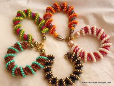 Beaded bracelet Spiral bracelet peyote by KarismaaDesigns on Etsy