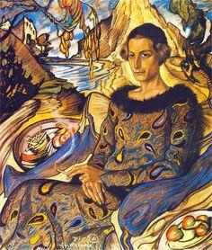 """""""Portrait of Maria Nawrocka"""" by Stanisław Ignacy Witkiewicz (Witkacy), 1925"""