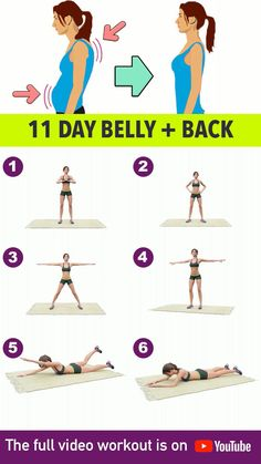 Today we're going to be doing exercises that will target two body issues that may seem odd to be paired but totally make. Full Body Gym Workout, Flat Belly Workout, Fitness Workout For Women, Fitness Workouts, At Home Workouts, Morning Ab Workouts, Yoga For Flat Belly, Tone Arms Workout, Morning Workout Motivation