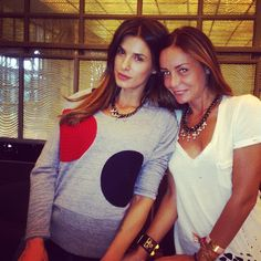 Beautiful Elisabetta Canalis is wearing a necklace of Linea Ann