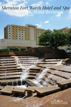 Read our review of the Sheraton Fort Worth Hotel and Spa - just off the highway and across from the Fort Worth Water Gardens. Good downtown mid tier hotel. Amazing Destinations, Vacation Destinations, Vacation Trips, Hotels And Resorts, Best Hotels, Fort Worth Hotels, Fort Worth Water Gardens, States In America, North America