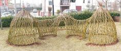 three sectioned willow structure....would be so cool for my son!