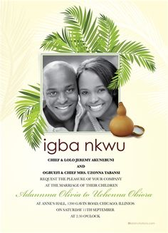 Ije love nigerian igbo traditional wedding invitation traditional ona edo african wedding invitation wedding invitation cardswedding cardsafrican weddingstraditional weddings stopboris Images