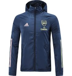 Arsenal 20/21 Royal Blue Hoodie Windbreaker – zorrojersey