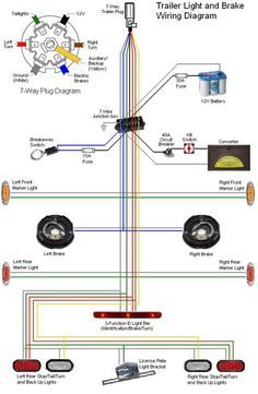 32 Wiring Diagram For Electric Brakes Bookingritzcarlton Info Trailer Light Wiring Utility Trailer Car Trailer