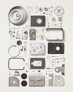 New on our roster is the work of Todd McLellan. In his Disassembly series, he presents objects separated into their smaller parts: http://20x200.com/products/disassembled-brownie