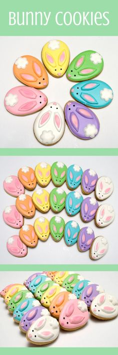Decorated Cookies -CHOCOLATE- Easter - Rabbits - Easter Bunnies - #affiliate
