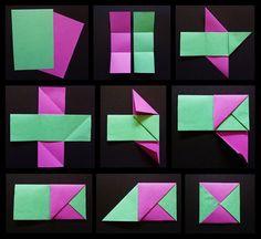 Gato Origami, Origami Frog, Origami Paper Folding, Modular Origami, Origami Easy, Man Crafts, Diy And Crafts, Paper Crafts, Paper Jewelry