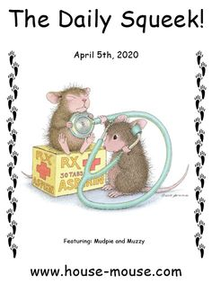 This image is from artist Ellen Jareckie's line of whimsical mice, House-Mouse Designs®. You can click on the image to go to a wonderful gallery of all of the  products it is currently available on. House Mouse Stamps, Get Well, Mice, Laughter, Whimsical, Teddy Bear, Gallery, Artists, Products